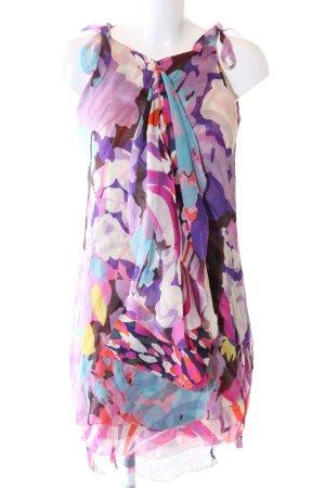 Diane von Furstenberg Robe à volants Mélange de motifs style décontracté