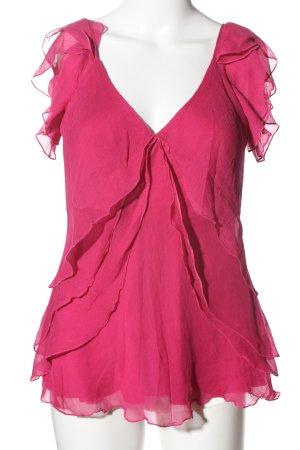 Diane von Furstenberg Top z falbanami różowy W stylu casual