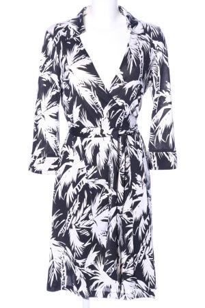 Diane von Furstenberg Wickeljacke schwarz-weiß abstraktes Muster Elegant