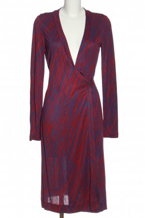 Diane von Furstenberg Robe portefeuille bleu-rouge motif rayé