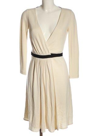 Diane von Furstenberg Robe portefeuille crème-noir style décontracté