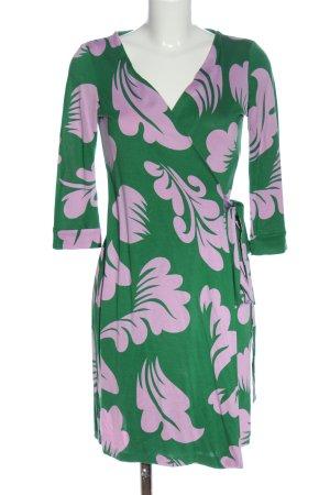 Diane von Furstenberg Robe portefeuille vert-rose style décontracté