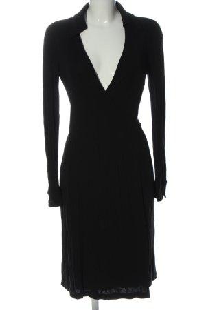 Diane von Furstenberg Robe portefeuille noir style décontracté
