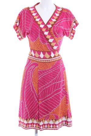 Diane von Furstenberg Robe portefeuille motif abstrait style rétro