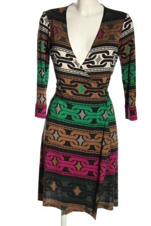 Diane von Furstenberg Vestido cruzado estampado con diseño abstracto
