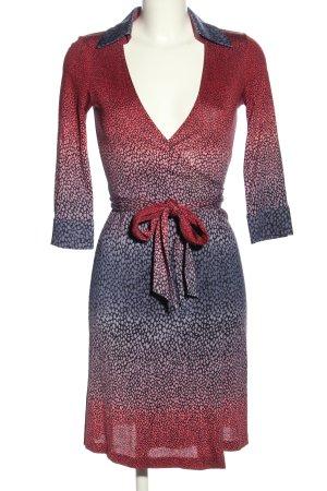 Diane von Furstenberg Kopertowa sukienka czerwony-niebieski Elegancki
