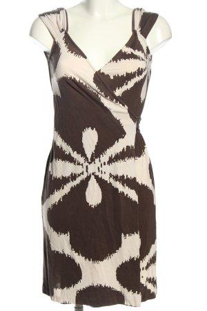 Diane von Furstenberg Wickelkleid braun-creme abstraktes Muster Casual-Look