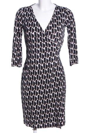 Diane von Furstenberg Wickelkleid schwarz-weiß Allover-Druck Business-Look