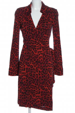 Diane von Furstenberg Kopertowa sukienka czerwony-czarny Na całej powierzchni