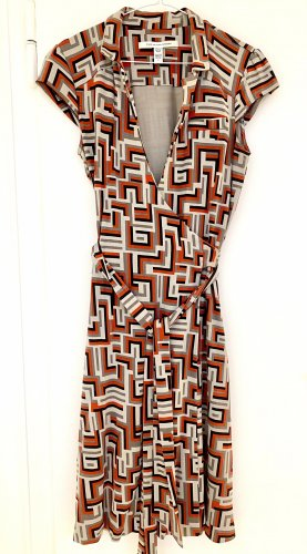 Diane Von Furstenberg Wickelkleid Wrap Dress Seide Gr. 8 US