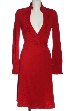 Diane von Furstenberg Vestido de lana rojo elegante