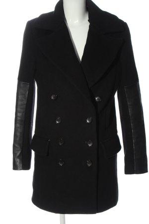 Diane von Furstenberg Wool Coat black business style