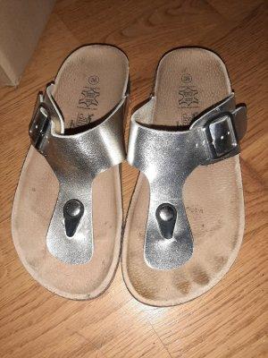 Sandały japonki srebrny