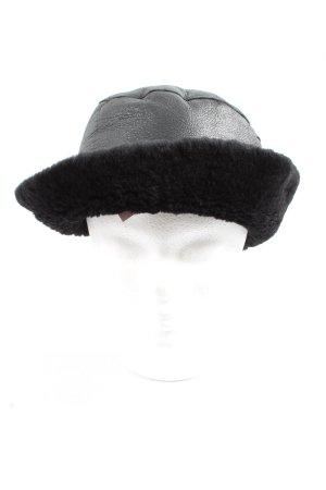Dibari Sombrero de piel negro look casual