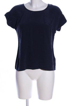 Dibari Kurzarm-Bluse blau Elegant