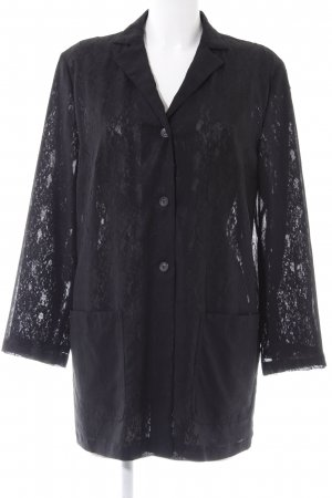 Dibari Long-Bluse schwarz abstraktes Muster Elegant