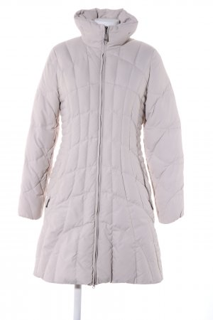Dibari Quilted Coat light grey quilting pattern casual look