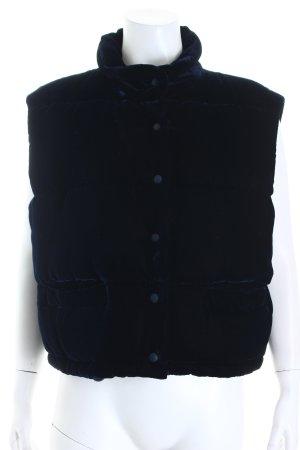 Dibari Chaleco acolchado azul oscuro tejido mezclado