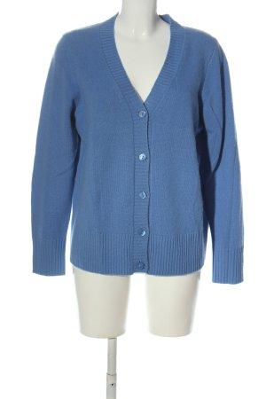 Dibari Cardigan in maglia blu stile casual