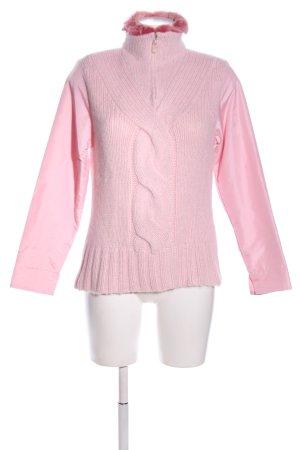 Dibari Troyer różowy Warkoczowy wzór W stylu casual