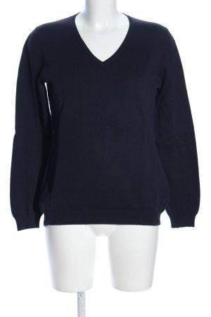 Dibari V-Ausschnitt-Pullover blau Casual-Look