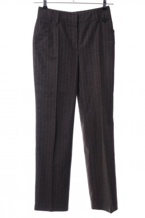 Dibari Wollhose braun Streifenmuster Business-Look