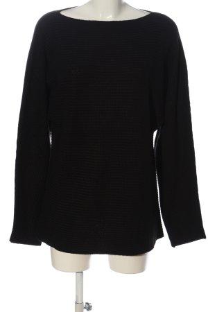Dibari Jersey trenzado negro look casual