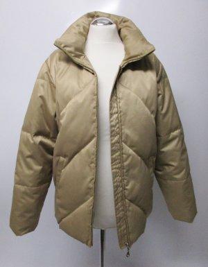 Dicke Daunenjacke Winterjacke MEXX Größe 40 Goldfarben Beige Stehkragen Warm gefüttert Daunen Jacke