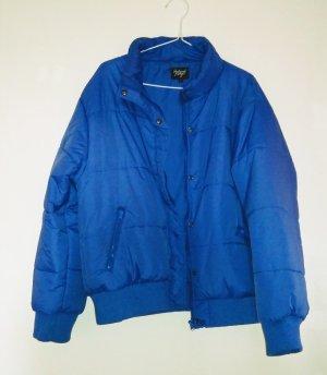 Dicke gesteppte Winterjacke blau Gr L Reclaimed Vintage