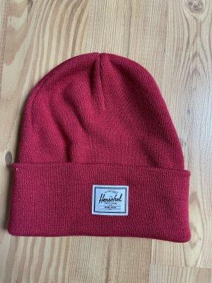 Herschel Cappello in tessuto magenta-rosso lampone