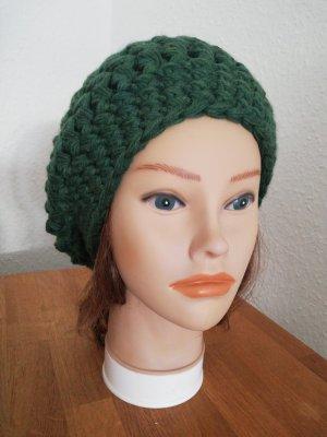 hand gemacht Crochet Cap forest green