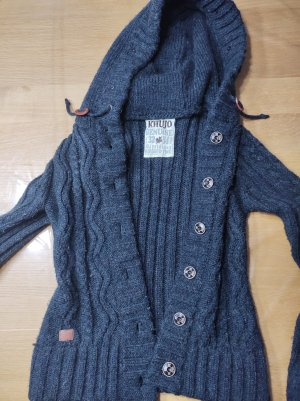 Khujo Coarse Knitted Jacket dark grey