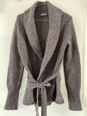 Marc O'Polo Veste tricotée en grosses mailles gris foncé laine
