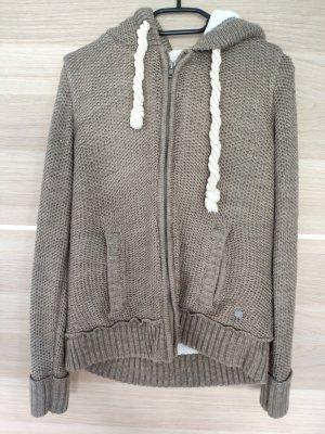 Manguun Coarse Knitted Jacket white-beige