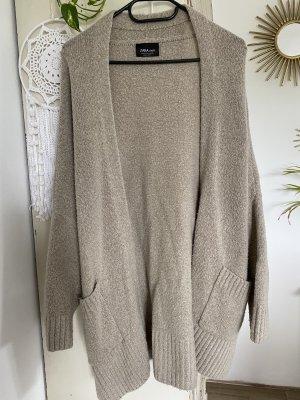 Zara Gilet tricoté chameau-beige