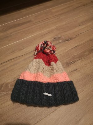 Barts Knitted Hat apricot-green grey