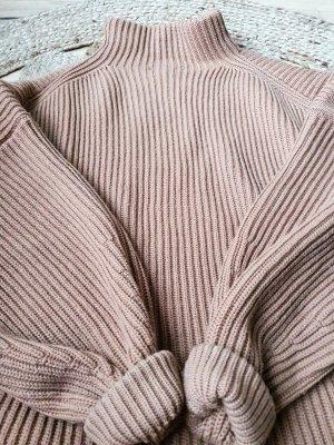 Dicker Grobstrick Pullover Zara braun