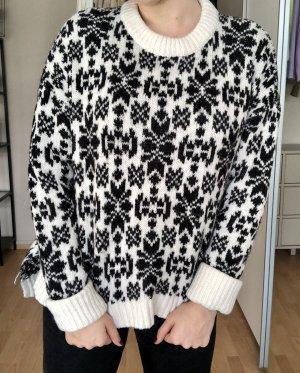 H&M Norwegian Sweater cream-black