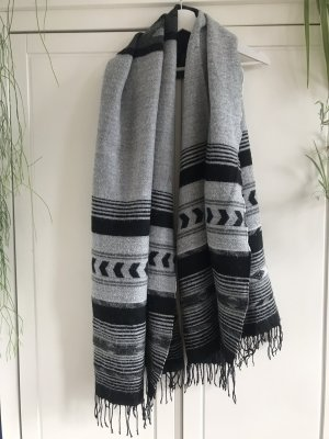 H&M Divided Fringed Scarf multicolored