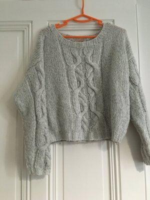 H&M Pull norvégien gris clair-beige clair tissu mixte
