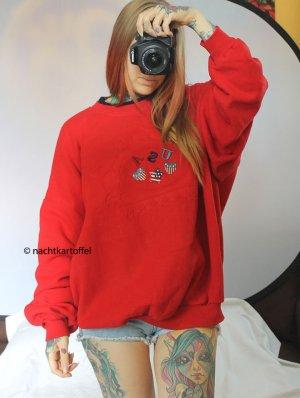 dicker Vintage Oversize Sweater Sweatshirt USA Trend Pullover Pulli Druck Motiv