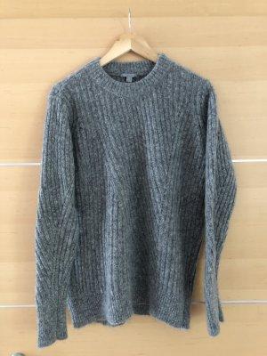 COS Maglione di lana grigio chiaro-grigio