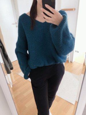 Dicker Wollpullover mit elastischen Bündchen