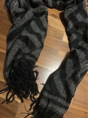 H&M Bufanda de lana negro-gris