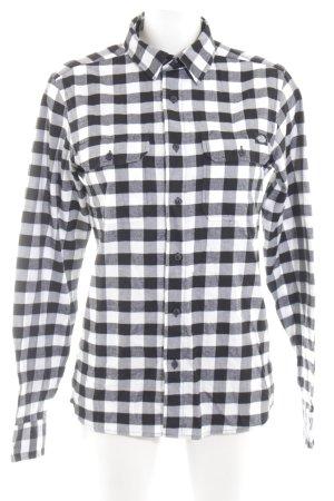 Dickies Langarmhemd schwarz-weiß Karomuster Casual-Look