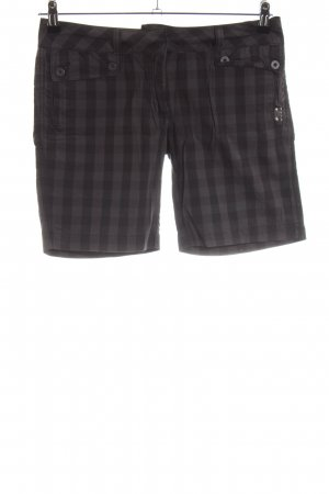 Dickies Sport Shorts black-light grey check pattern casual look