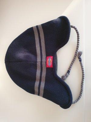 Dickies Strickmütze navy dunkelblau grau gefüttert fleece