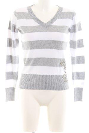 Dickies V-Ausschnitt-Pullover hellgrau-weiß meliert Casual-Look