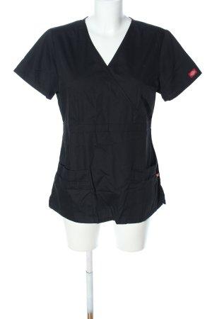 Dickies Koszulka z dekoltem w kształcie litery V czarny W stylu casual