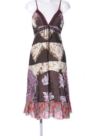 Didi Hippiekleid braun abstraktes Muster Vintage-Look